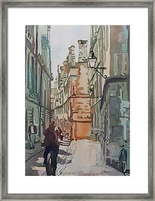 Oxford Lane Framed Print by Jenny Armitage