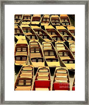 Oxford Punts Framed Print