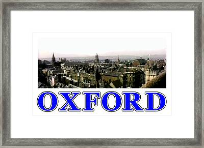 Oxford Snapshot Panorama Rooftops 2 Jgibney The Museum Zazzle Gifts Framed Print by The MUSEUM Artist Series jGibney