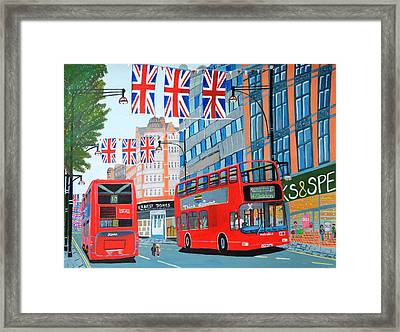 Oxford Street- Queen's Diamond Jubilee  Framed Print