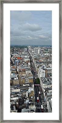 Oxford Street Vertical Framed Print by Matt Malloy