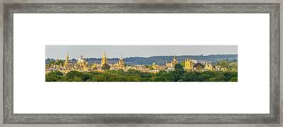 Oxford University Panorama Framed Print