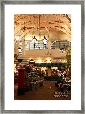 Oxford's Covered Market Framed Print by Terri Waters