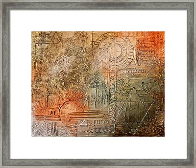 Oxidization Sacred Geometry Framed Print