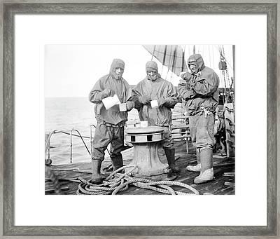 Oxo Drinks On Terra Nova Framed Print by Scott Polar Research Institute