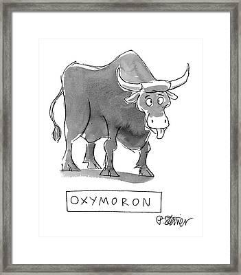 'oxymoron' Framed Print
