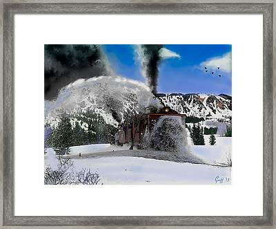 Oy The Snowfighter Framed Print by J Griff Griffin
