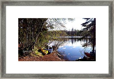 Framed Print featuring the photograph Oyama Lake - Kayaking by Guy Hoffman