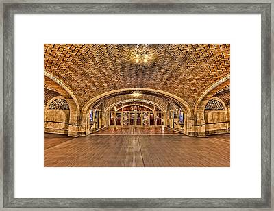 Oyster Bar Restaurant Framed Print