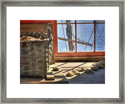 Oyster Basket Framed Print