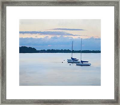 Oyster Bay Sailboats Framed Print by Anthony Stiso