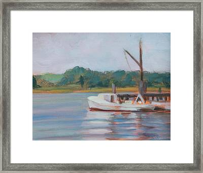 Oyster Boat On The Chesapeake Framed Print