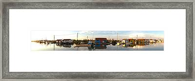Oyster Farming Zone In Oleron Island Framed Print by Panoramic Images