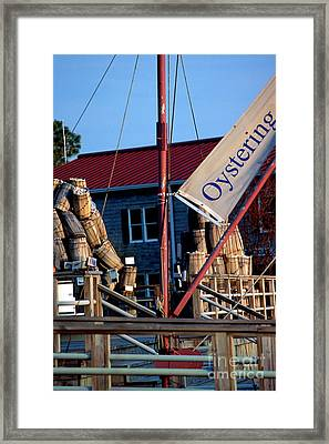 Oystering History At The Maritime Museum In Saint Michaels Maryland Framed Print