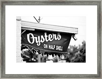 Oysters On Half Shell Framed Print