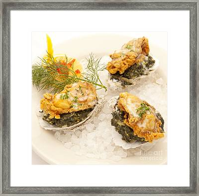 Oysters Rockefeller Framed Print by New  Orleans Food