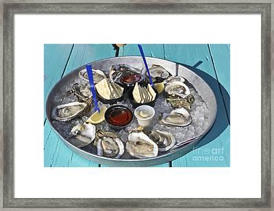 Oysters Framed Print by Sophie Vigneault