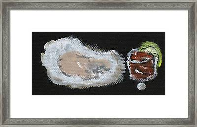 Oysters Yummy Framed Print by Katie Spicuzza