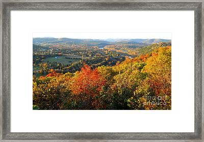 Ozark Autumn White River Valley - Arkansas/missouri Line Framed Print by Gerald MacLennon