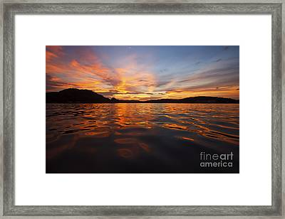 Ozark Sunset Framed Print by Dennis Hedberg
