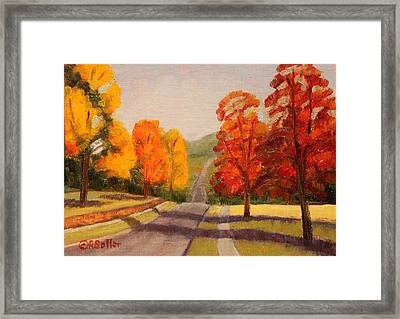 Ozarks October Framed Print