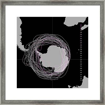 Ozone Hole Over 30 Years Framed Print