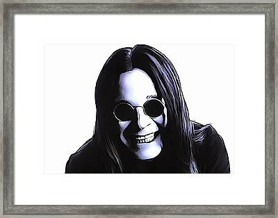 Ozzy Framed Print by Dan Sproul