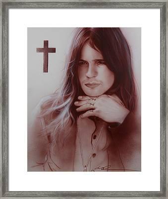 ' Ozzy Osbourne ' Framed Print by Christian Chapman Art