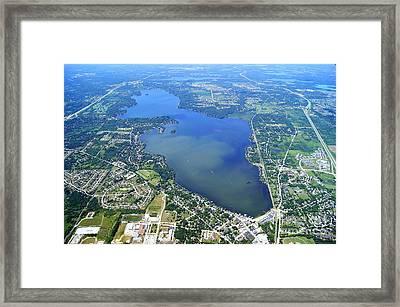P-024 Pewaukee Lake Waukesha Co. Wisconsin Framed Print