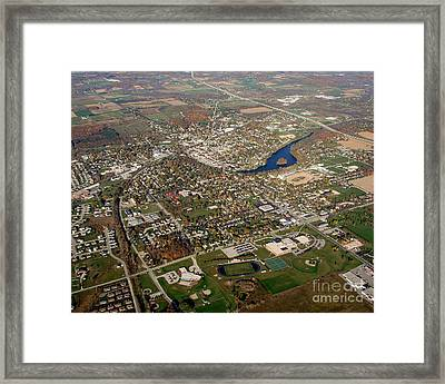 P-033 Plymouth Wisconsin Fall Framed Print by Bill Lang