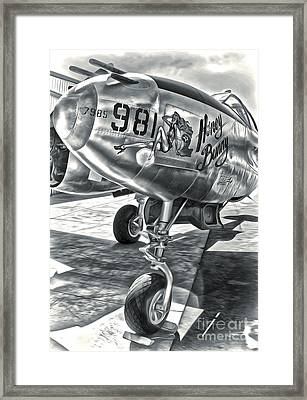 P-38 Airplane Framed Print by Gregory Dyer