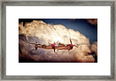 P-38 'dancin' With The Lightning' Framed Print by Gus McCrea