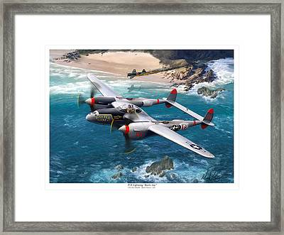 P-38 Lightning Battle Axe Framed Print by Mark Karvon