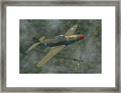 P-39 Airacobra Vs. Zero Framed Print by Robert Perry