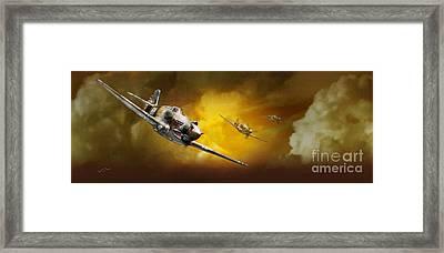 P-40 Framed Print by Tony Pierleoni
