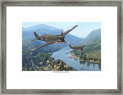 P-40 Warhawks Of The 23rd Fg Framed Print by Mark Karvon
