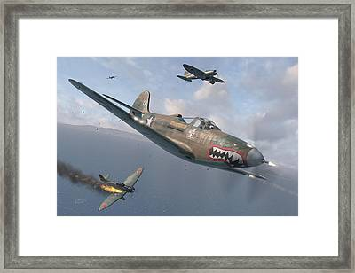P-400 Hells Bells Framed Print by Robert Perry