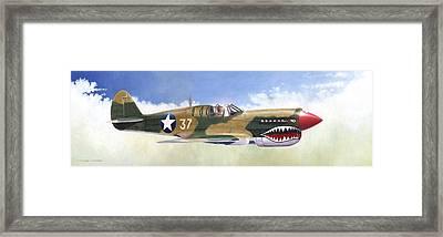 P-40e Warhawk Framed Print