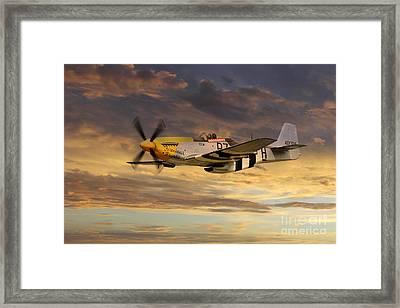 P-51 Ferocious Frankie Framed Print by J Biggadike