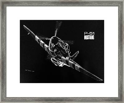 P-51 Fly By Framed Print