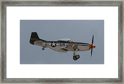 P-51 Landing Configuration Framed Print by John Daly