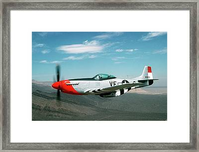 P-51 Mustang In Flight Framed Print by Us Air Force