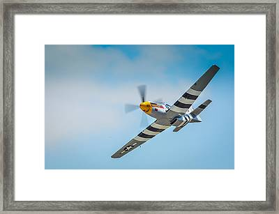 P-51 Mustang Low Pass Framed Print by Puget  Exposure
