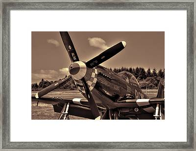 P-51 Mustang Speedball Alice Fighter Framed Print