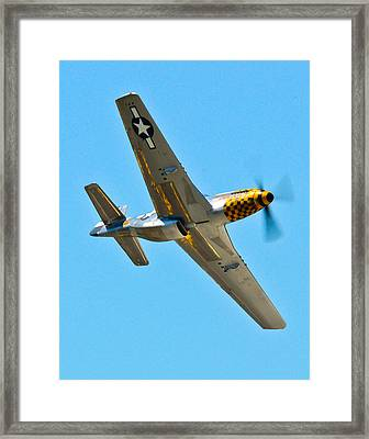 P-51 Mustang Wing Over Framed Print by Puget  Exposure