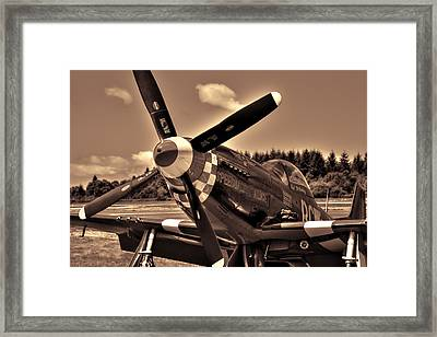 P-51 Speedball Alice Framed Print