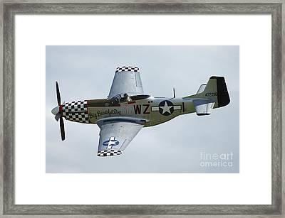 P-51d Mustang In World War II United Framed Print by Riccardo Niccoli