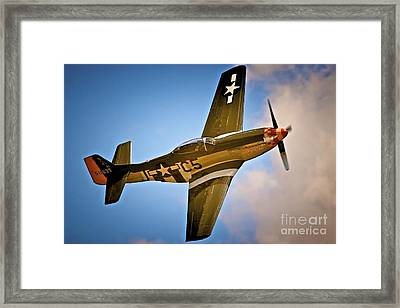 P-51d Mustang 'lady Alice' Framed Print by Gus McCrea