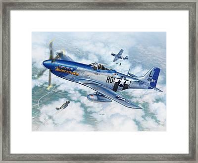 P-51d Mustang The Hawk-eye-owan Framed Print