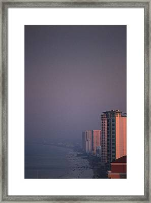 Panama City Beach In The Morning Mist Framed Print